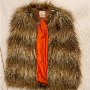 Urban outfitters brown faux fur vest